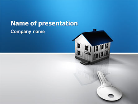 real estate property powerpoint template, backgrounds | 02932, Modern powerpoint