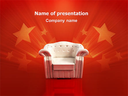 Careers/Industry: Comfort Chair PowerPoint Template #02933
