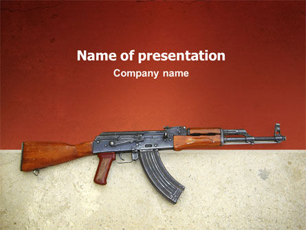 Military: Kalashnikov PowerPoint Template #02934