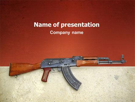 Kalashnikov PowerPoint Template, 02934, Military — PoweredTemplate.com