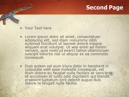 Kalashnikov PowerPoint Template, Slide 2, 02934, Military — PoweredTemplate.com