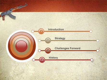 Kalashnikov PowerPoint Template, Slide 3, 02934, Military — PoweredTemplate.com