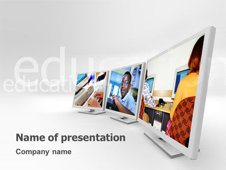 Education & Training: Computer Education In School PowerPoint Template #02935