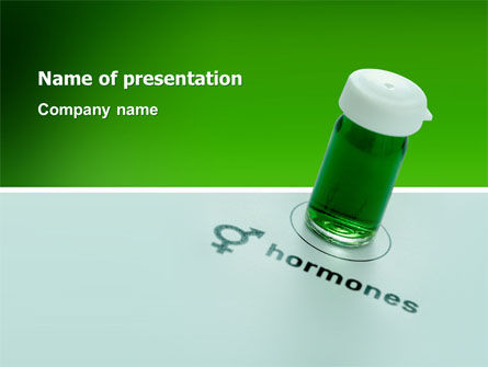 Hormones PowerPoint Template, 02937, Medical — PoweredTemplate.com