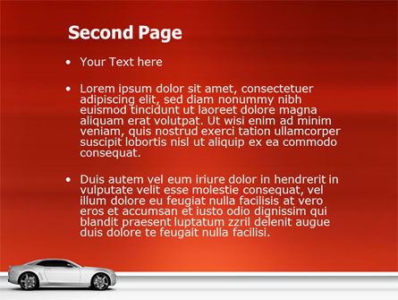 Supercar PowerPoint Template, Slide 2, 02939, Cars and Transportation — PoweredTemplate.com