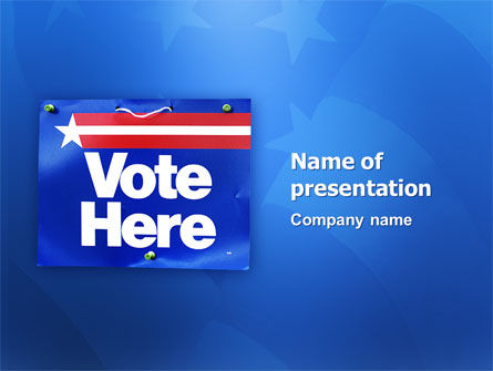 Primaries PowerPoint Template, 02941, Politics and Government — PoweredTemplate.com