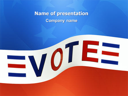 Vote PowerPoint Template, 02942, Politics and Government — PoweredTemplate.com