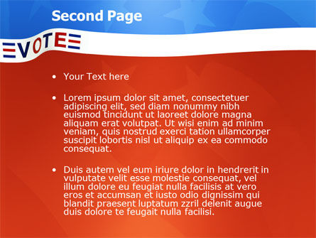 Vote PowerPoint Template, Slide 2, 02942, Politics and Government — PoweredTemplate.com