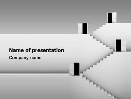 Business Concepts: Modello PowerPoint - Aprire porte e scale #02943