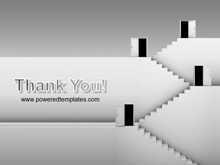 Open Doors And Stairwells PowerPoint Template Slide 20
