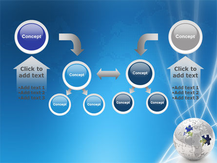 Jigsaw World PowerPoint Template Slide 19