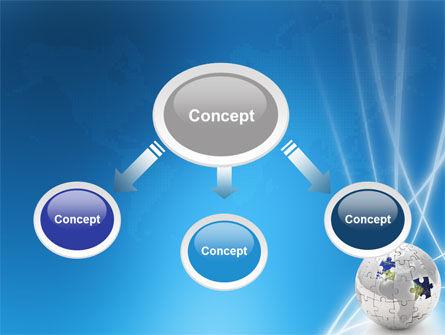Jigsaw World PowerPoint Template, Slide 4, 02945, Global — PoweredTemplate.com