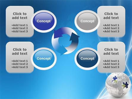 Jigsaw World PowerPoint Template Slide 9