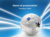 Global: Jigsaw World PowerPoint Template #02945