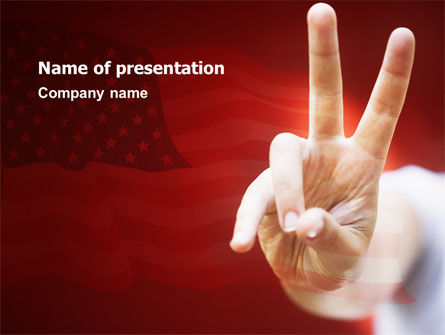 American Victory PowerPoint Template, 02947, Holiday/Special Occasion — PoweredTemplate.com