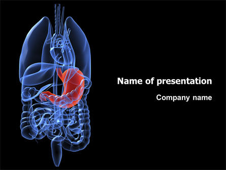 Medical: Stomach PowerPoint Template #02949