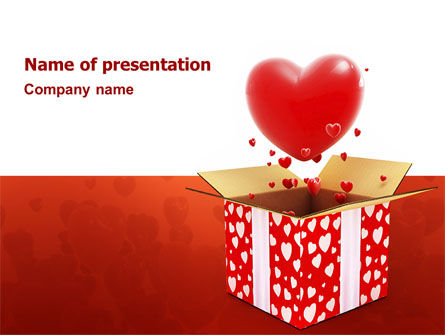 Love Present Free PowerPoint Template, 02950, Holiday/Special Occasion — PoweredTemplate.com