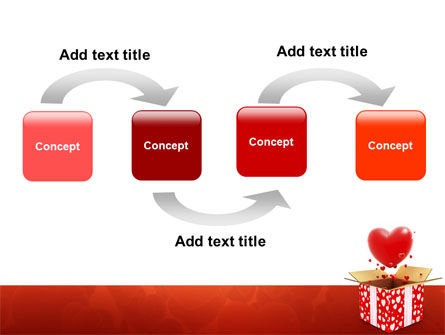 Love Present Free PowerPoint Template, Slide 4, 02950, Holiday/Special Occasion — PoweredTemplate.com