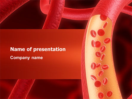 Red Blood Cells PowerPoint Template, 02953, Medical — PoweredTemplate.com
