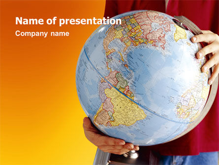 Global: World in Your Hand PowerPoint Template #02954