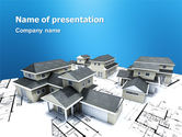 Construction: House Building PowerPoint Template #02955