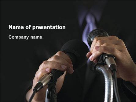 Speech PowerPoint Template, 02956, Politics and Government — PoweredTemplate.com