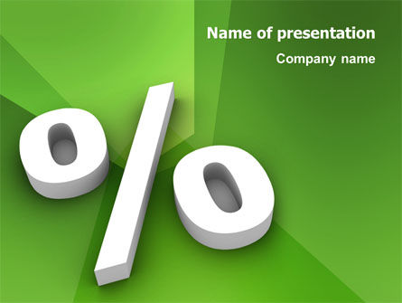 Financial/Accounting: Percent Sign PowerPoint Template #02957
