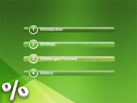 Percent Sign PowerPoint Template Slide 3