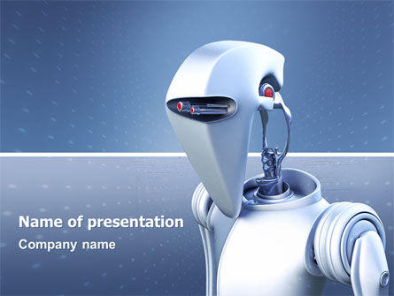 Robot PowerPoint Template, 02958, Technology and Science — PoweredTemplate.com