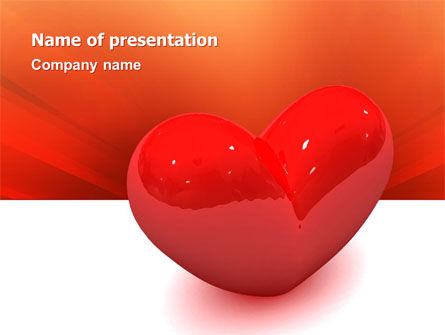 Holiday/Special Occasion: Brightly Sparkling Heart PowerPoint Template #02959