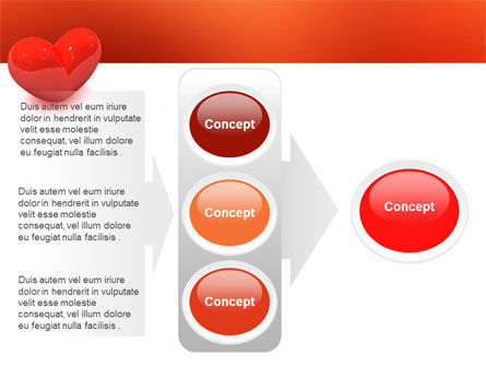 Brightly Sparkling Heart PowerPoint Template Slide 11