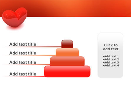Brightly Sparkling Heart PowerPoint Template Slide 8