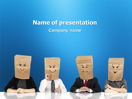 Consulting: Social Mask PowerPoint Template #02960