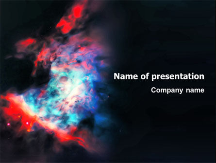 Education & Training: Orion Nebula PowerPoint Template #02961