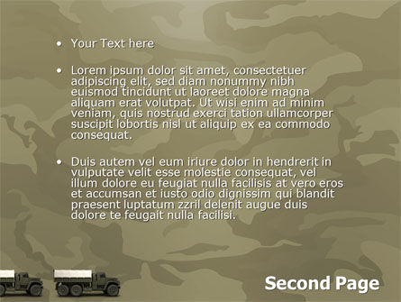 Military Truck PowerPoint Template, Slide 2, 02962, Military — PoweredTemplate.com