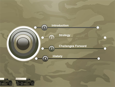 Military Truck PowerPoint Template, Slide 3, 02962, Military — PoweredTemplate.com