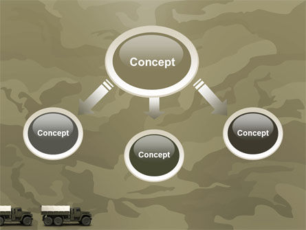 Military Truck PowerPoint Template, Slide 4, 02962, Military — PoweredTemplate.com
