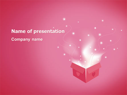 Love Box PowerPoint Template, 02964, Holiday/Special Occasion — PoweredTemplate.com