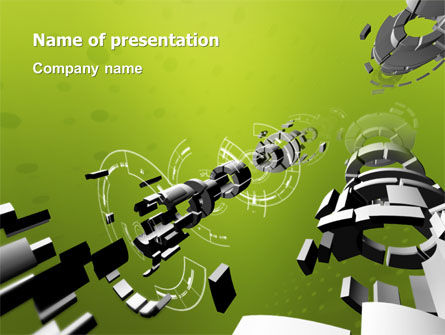 3D: Turned Part PowerPoint Template #02966