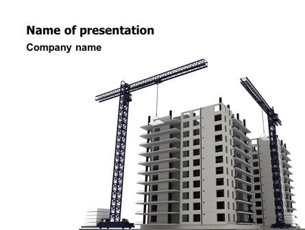 Building Plot PowerPoint Template, 02967, Construction — PoweredTemplate.com