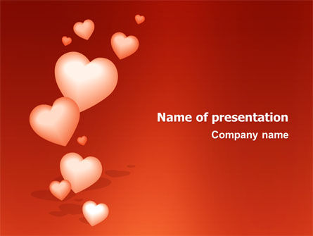 Holiday/Special Occasion: Modello PowerPoint - Regalo di amore #02968