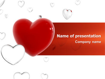 Hearts PowerPoint Template, 02969, Holiday/Special Occasion — PoweredTemplate.com