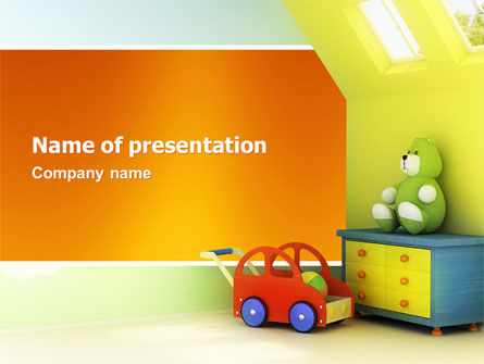 Day Nurseries PowerPoint Template, 02974, Education & Training — PoweredTemplate.com