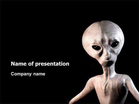 Alien PowerPoint Template, 02976, Technology and Science — PoweredTemplate.com