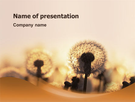 Nature & Environment: Dandelion Free PowerPoint Template #02981
