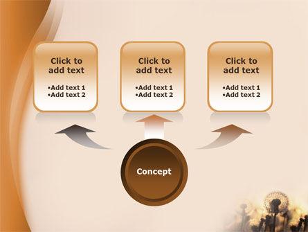 Dandelion Free PowerPoint Template, Slide 4, 02981, Nature & Environment — PoweredTemplate.com