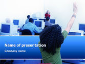 Education & Training: Modello PowerPoint - Uditivo computer #02982