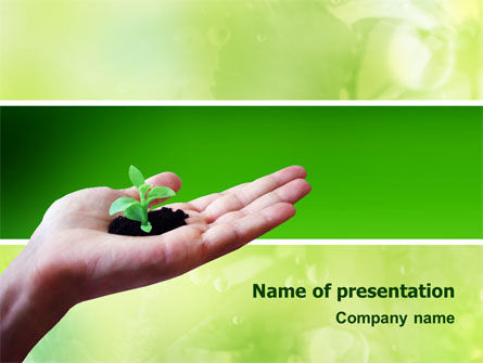 Sprout PowerPoint Template, 02983, Nature & Environment — PoweredTemplate.com