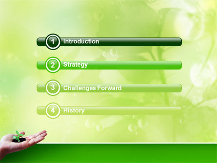 Sprout PowerPoint Template, Slide 3, 02983, Nature & Environment — PoweredTemplate.com