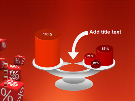 Red Percent Cubes PowerPoint Template Slide 10